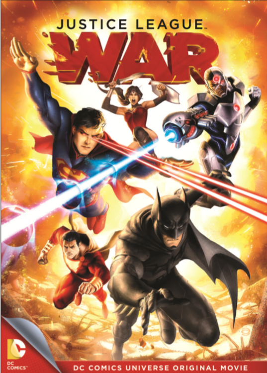 Justice Legue War DVD Cover