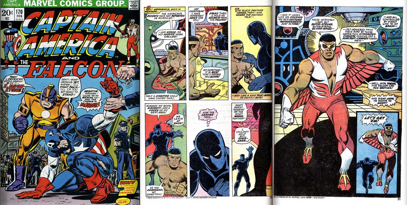 Falcon first appearance of flying costume from Captain America vol.1 #170