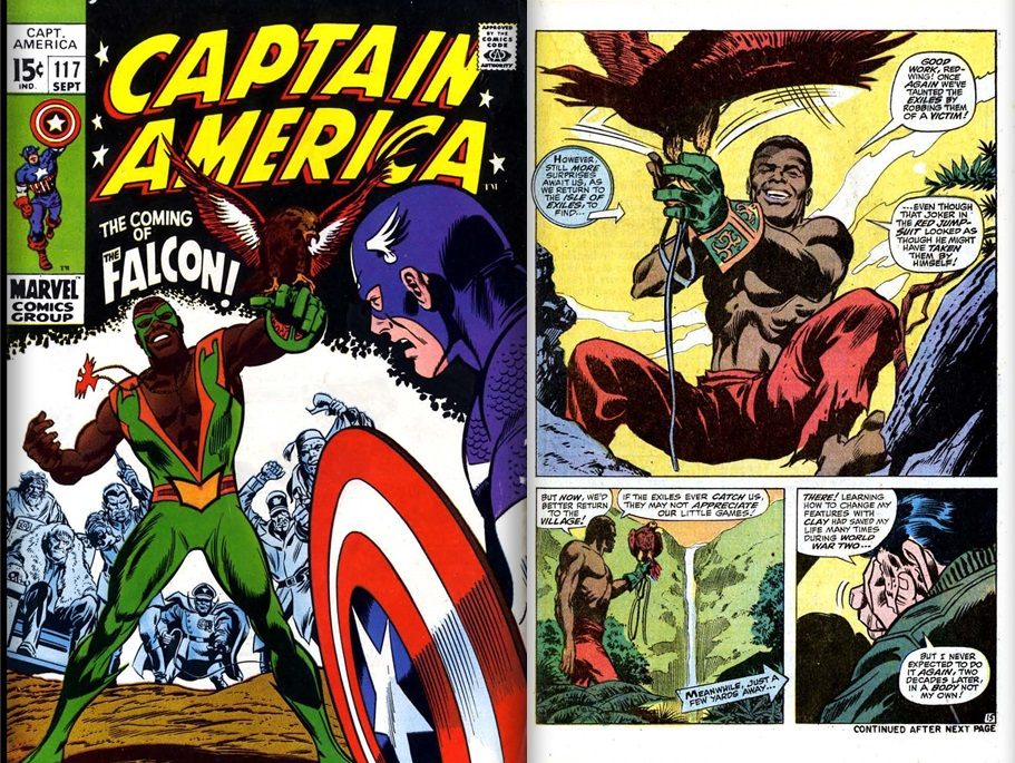 The first appearance of the Falcon from Captain America Vol.1 #117, story by Stan Lee art by Gene Colan