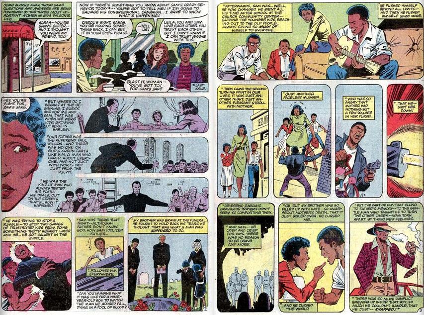 Sam Wilson's Traumatic life from Captain America #277