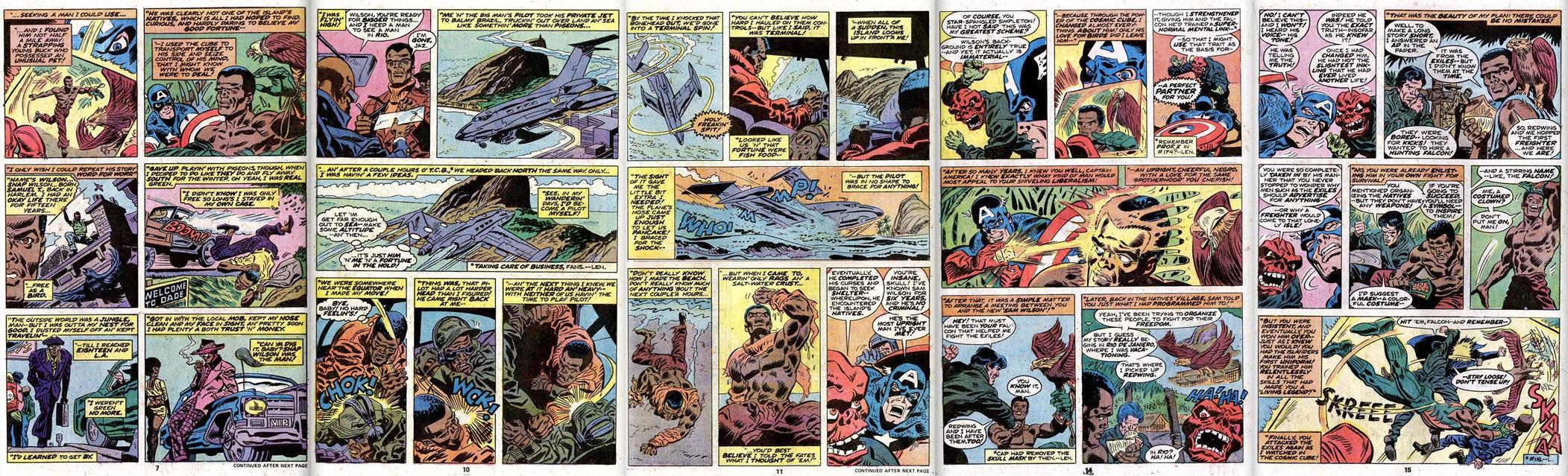 Origin of the Falcon Captain America 186