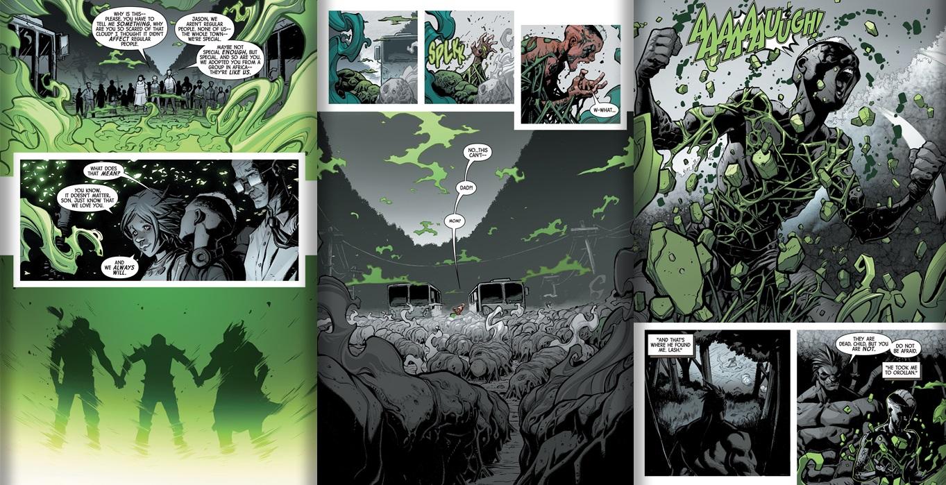 Origin of Jason from Inhuman #5 story by Charles Soule, art by Ryan Stegman