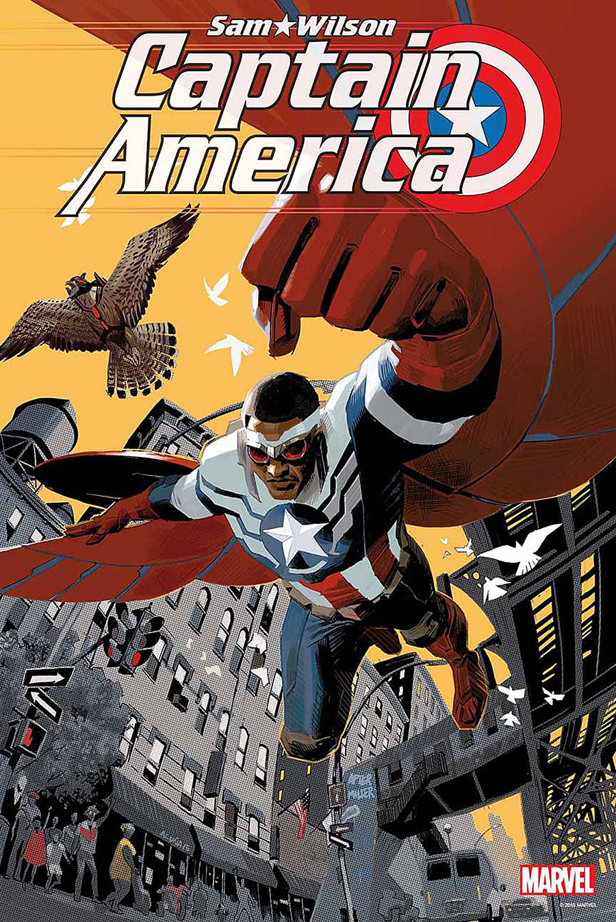 First look at Sam Wilson: Captain America!