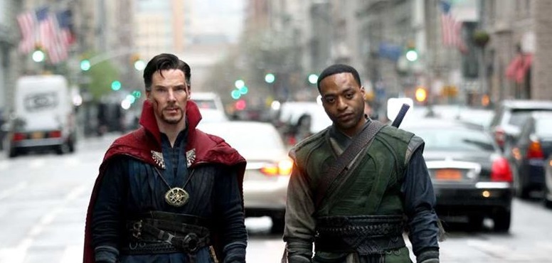 Doctor Strange on the left, and Karl Mordo on the right.